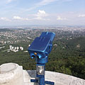Almost the complete panorama of Budapest reveals from the 23-meter-tall lookout tower on the top of the 527-meter-high mountain - Budapešť, Maďarsko
