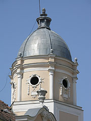 The corner tower or dome of the so-called Francis II Rákóczi's House - Gyöngyös, Maďarsko