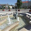Fountain with a bronze statue of a mermaid - Nagykőrös, Maďarsko