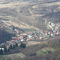 The view of Pilisszentlélek village that belongs to Esztergom town, from the Fekete-kő - Pilis Mountains (Pilis hegység), Maďarsko
