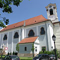 "Church of the Whites (in Hungarian ""Fehérek temploma""), also known as Upper Town Parish Church, it is the former Dominican Church - Vác, Maďarsko"
