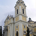 The neo-baroque style Sacred Heart of Jesus Franciscan Parish Church, also known as the Church of Ola - Zalaegerszeg, Maďarsko