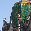 The dome of the Museum of Applied Arts with green Zsolnay ceramic tiles - Budapeşte, Macaristan