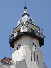 The tower of the Town Hall (clock tower, fire-watch tower and lookout tower in one) - Ráckeve, Macaristan