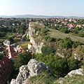 Benedict Hill (Benedek-hegy), the continuation of the dolomite cliff of the Castle Hill - Veszprém, Macaristan