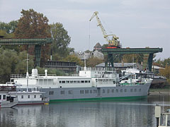 "The powered boat called ""Debrecen"" in the harbour of the factory - Budapesta, Ungaria"