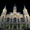 The neo-baroque Town Hall of Győr at night - Győr, Ungaria