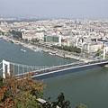 UNESCO World Heritage panorama (River Danube, Elizabeth Bridge, Riverbanks of Pest) - Budapeste, Hungria