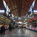 Marketplace from the ground floor - Budapest, Hungría