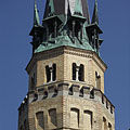The neo-gothic brick-walled tower of the Lutheran church of Cegléd - Cegléd, Ungheria