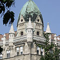 The corner turret of the castle-like so-called Sváb House or Swabian House - Budapest, Hongrie