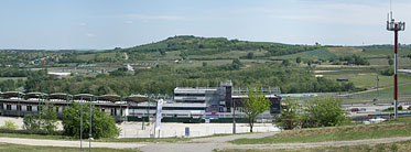 ××Hungaroring, view from the upper parking lot - Mogyoród, Węgry