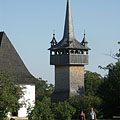 "The bell tower (belfry) from Nemesborzova is a symbol of the ""Skanzen"" open air museum of Szentendre - Szentendre (Święty Andrzej), Węgry"