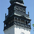 The steeple (tower) of the Reformed church of Nagykőrös - Nagykőrös (Надькёрёш), Венгрия