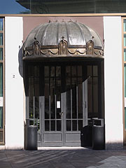 One of the decorative entrances of the AEGON headquarters building - Budapest, Ungarn