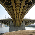 The Margaret Bridge is a three-way bridge (or tri-bridge, it has three wings), it is clearly visible on this picture - Budapest, Ungarn