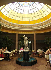 Ornate glass dome over the atrium (lobby) of the thermal bath - Miskolc, Ungarn