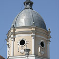 The corner tower or dome of the so-called Francis II Rákóczi's House - Gyöngyös, Hongarije