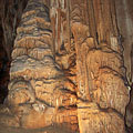 Monumental dripstones by the Styx Brook - Domica cave, Slovakkia