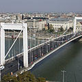 The slender Elisabeth Bridge from the Gellért Hill - Budapest, Ungarn