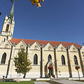 "The first Roman Catholic church of Újpest, the ""Queen of Heaven"" Church - Budapest, Ungarn"