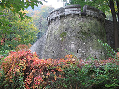 A bastion-like retaining wall of a terrace in the hanging gardens - Miskolc, Ungarn