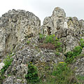 The Golden House Geyser Cone (spring cone) got its name after the yellowish lichens that cover the rocks - Tihany, Ungarn