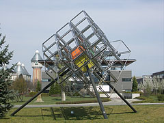 "Sculpture of a Rubik's cube (aka ""magic cube"") - Budapest, Ungern"