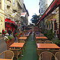 Terrace of the Pesti Vendéglő Restaurant - Budapest, Ungern