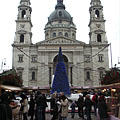Christmas fair at the St. Stephen's Basilica - Budapest, Ungern