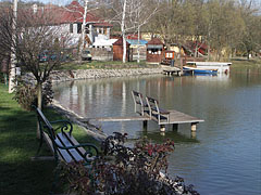 The landscaped shore of the Bánki Lake - Bánk, هنغاريا