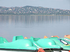 Lake Velence, as well as Sukoró village on the other side of the lake - Agárd, Hungary