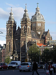 The Sint Nicolaaskerk (St. Nicholas Church), viewed from the square - Amsterdam, Netherlands
