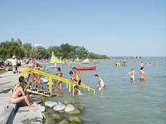 The Wesselényi beach on the lakeshore of the Balaton - Balatonalmádi, Hungary