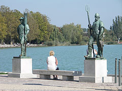 The Fisherman and the Ferryman statues at Lake Balaton - Balatonfüred, Hungary