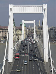 Car traffic on the Elisabeth Bridge - Budapest, Hungary