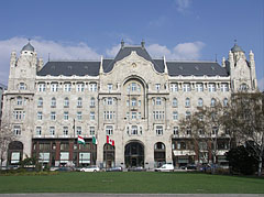 The Art Nouveau style (or secessionist) Gresham Palace - Budapest, Hungary