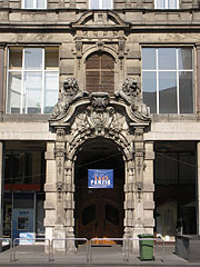 The entrance of the apartment building called Csáky-Cziráky Palace  - Budapest, Hungary