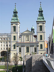The Inner City Parish Church from the Elisabeth Bridge - Budapest, Hungary