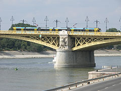 "The Margaret Bridge (""Margit híd"") viewed from the Pest-side embankment - Budapest, Hungary"
