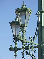 Some lamps of the Liberty Bridge - Budapest, Hungary