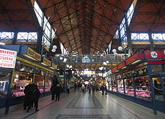 Marketplace from the ground floor - Budapest, Hungary