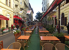 Terrace of the Pesti Vendéglő Restaurant - Budapest, Hungary