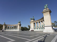 The historical colonnade of the Millennium Memorial - Budapest, Hungary
