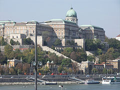 The Buda Castle Palace as seen from the Pest side of the Danube River - Budapest, Hungary