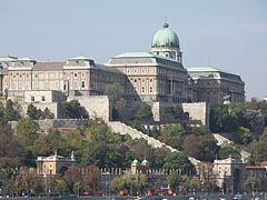 The sight of the Buda Castle Palace from Pest - Budapest, Hungary
