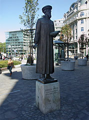 Statue of Jean Calvin (John Calvin) French theologian and protestant reformer - Budapest, Hungary