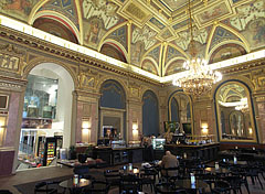BookCafe Café in the Lotz Room of the Paris Department Store building - Budapest, Hungary