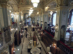 The Deepwater Restaurant in the offset four-split-level New York Café coffee house - Budapest, Hungary