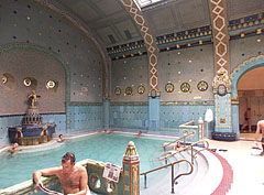 Men's spa, the 36-Celsius-degree thermal pool - Budapest, Hungary